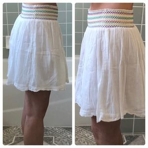Rubbish white skirt